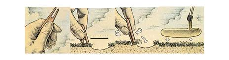 How to repair a pitch mark